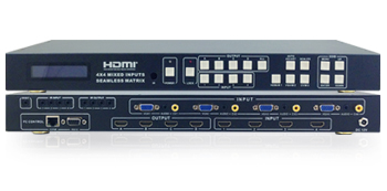 CSW-HD455KM – 4x4 Multi-Input Seamless Matrix with Video Wall Function and Control